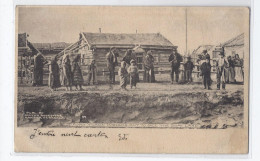 CPA USA - ALASKA - FORT YKON - Indians Out To See The Boat Land - SUPERBE PLAN ANIMATION Oblitération - Vereinigte Staaten
