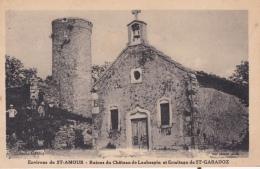 16 / 7 / 293  - ENV.  DE   ST. AMOUR  (39 )  - RUINES  DU CHATEAU  DE  LAUBESPIN  ET  ERMITAGE DE ST. GARADOZ - Francia