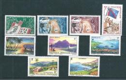 Polynésie  Timbre De 1964  N°26 A 34  Année Complète Tres Petite  Charnière (cote 61€) - Französisch-Polynesien