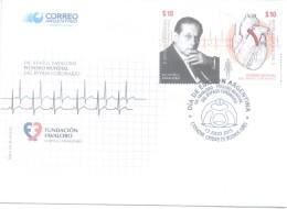 DOCTOR RENE FAVALORO - PIONERO MUNDIAL DEL BYPASS CORONARIO - FUNDACION FAVALORO HOSPITAL UNIVERSITARIO FDC SOBRE ARGENT