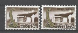 België  N°1420V  1420V2   Cote 22 Euro - Abarten Und Kuriositäten