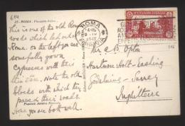 5463-Da Roma Per L'Inghilterra 9/9/1931 C.75 S.Antonio Sassone 296 Su Cartolina Dell'Appia Antica - 1900-44 Vittorio Emanuele III