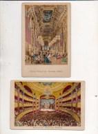"""Photographie Carton 19 éme Siècle """" Foyer Public Et Salle Du Nouvel Opéra """" Numa Fils Photographe Rue Vivienne Paris - Foto"""