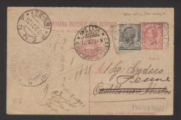6166-Cartolina Postale Postal Stationery Filagrano C40A Mill.18  Usata Colore Avorio Anziché Verde , Filetto Di Inquadra - 4. 1944-45 Repubblica Sociale