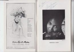 RT29.125   SPECTACLES  J.VIELLE.CHERIE NOIRE.AUTOGRAPHES DE MARPESSA DAWN ET JACQUES SEREYS - Autographes