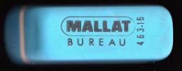 1 GOMME BLEUE MALLAT NEUVE BUREAU CRAYON DE PAPIER REFERENCE 463-16 FRANCE 6,3X2X1,6cm FERMETURE LIBRAIRIE PAPETERIE - Sonstige