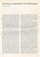 Literatur / Die Post In Landstuhl Im 19. Jahrhundert, 4 Seiten (61242) - Filatelia E Storia Postale