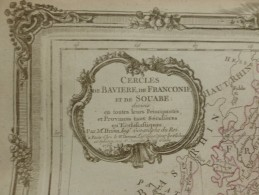 CARTE CERCLES DE BAVIERE DE FRANCONIE ET DE SOUABE PAR BRION DE LA TOUR 1766 - Carte Geographique