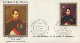 Enveloppe  1er  Jour   SENEGAL    150éme   Anniversaire  De  La  Mort  De  NAPOLEON   1971 - Napoleon