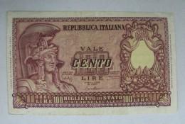 AC - ITALY 100 LIRE 1951 VERY FINE - [ 2] 1946-… : Republiek