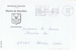 BOIS-L9 -  FRANCE Lettre En Franchise Postale De La Mairie De Docelles Cité Papetière - Factories & Industries