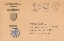 BOIS-L11 -  FRANCE Lettre En Franchise Postale Et Flamme De La Mairie De Soultzeren Illust. Blason Avec Cor Des Alpes - Music