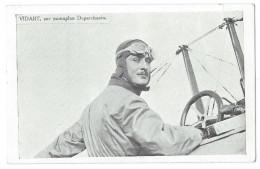 L´AVIATEUR RENÉ VIDART (1890-1928)  Sur Monoplan Deperdussin - Gros Plan - Aviadores