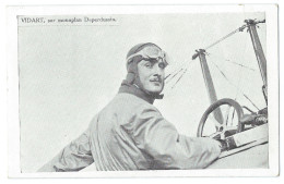 L´AVIATEUR RENÉ VIDART (1890-1928)  Sur Monoplan Deperdussin - Gros Plan - Aviatori