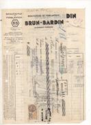 Facture Et Cheque Colles Manufacture De Ferblanterie Brun Bardin à Clermont Ferrand Le 7 Juin 1931 - Frankreich