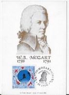 CPSM W A Mozart Le Train Mozart Lyon 1991 - France