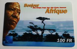 TELECARTE Carte Téléphonique Bonjour  Afrique  100F Recharge - Afrique Du Sud