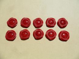 MBR44) Lot De 10 Boutons 17mm - Buttons