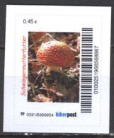 Biber Post Schwiegermutterfutter (Fliegenpilz) (0,45) Gezähnt Neues Logo Bp749 - Private & Local Mails