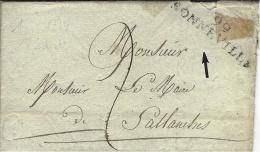1812- TERRITOIRES CONQUIS-lettre De 99 / BONNEVILLE ( Le Léman ) 49 Mm Noir Pour Sallanches - 1801-1848: Precursors XIX