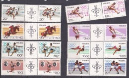 1968 Mexico Poland 1967 Preolympic Games Gutter Pair MNH - Summer 1968: Mexico City