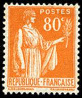 France Type Paix N°  366 ** 4ème Série Le 80c Orange - 1932-39 Paix
