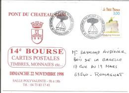 OBLITERATION COMMEMORATIVE CONGRES PHILA GPMC CHAMALIERES (PUY DE DOME) 1998  VOLCAN - Poststempel (Briefe)