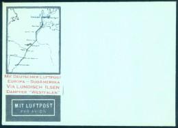 Germany Europa-Sudamerica Via Lundisch Ilsen Dampfer WESTFALEN Unused Airmail Cover - Airmail
