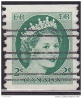 Canada 1954, Queen Elizabeth, 2c, Used - Coil Stamps
