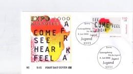 Allemagne-Bundespost-2000-Peintures, Série Sur 6 FDC - 2000 – Hannover (Deutschland)