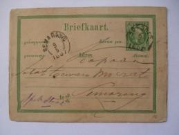 NETHERLANDS INDIES 1887 POSTCARD KOEDOES TO SEMARANG - Indie Olandesi