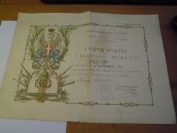 REGIO ESERCITO ITALIANO CARABINIERI REALI CERTIFICATO TIRATORE SCELTO 1940 MARESCIALLO CAPO ROMA - Documenti