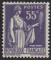 France Type Paix N°  363 ** De La 3ème Série, Le 55c Violet - 1932-39 Paix