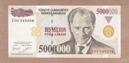 AC - TURKEY - 7TH EMISSION 5 000 000 TL E 09 549 294 AUNC - Turquie