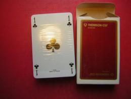 JEU / JEUX DE 54 CARTES NEUVES SOUS BLISTER DE LUXE AVEC SA BOITE EN CARTON PUB THOMSON CSF DIVISION SDC - 54 Cartes