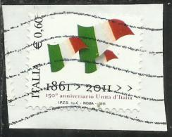 ITALIA REPUBBLICA ITALY REPUBLIC 2011 ANNIVERSARIO DELL´UNITA´ D´ITALIA USATO USED OBLITERE´ - 6. 1946-.. Republic