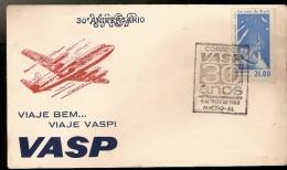 Brazil & FDC 30th Anniversary VASP, International Exhibition Aeronautica, Aracaju, 1963 (739) - FDC