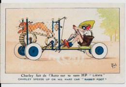 CPA Carte Ancienne Lapin Bunny Rabbit Fantaisie Non Circulé Position Humaine Par MICH - Sonstige
