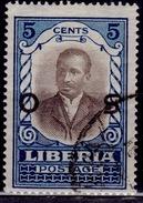 Liberia, 1921, Daniel Howard, 5c Overprint, Used - Liberia