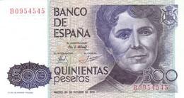 Spain (BDE) 500  Pesetas 1979 UNC Cat No. P-157a / ES623a - Spagna