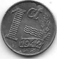 Netherlands  1 Cent 1942 Km 170   XF+ !!! - [ 3] 1815-… : Royaume Des Pays-Bas