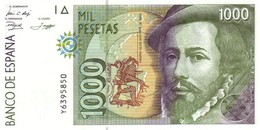 SPAIN 1000  PESETAS 1992 P-163a UNC  [ ES163 ] - Espagne