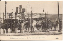 4418. CPA GUERRE 1914 18. WW1. LES HINDOUS ET LEURS MULETS - Guerre 1914-18