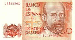 SPAIN 200  PESETAS 1980 P-156a UNC  [ ES156 ] - Spanien