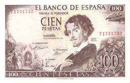 Spain (BDE) 100  Pesetas 1965 AU/UNC Cat No. P-150a / ES616a - Spagna