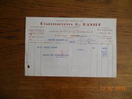 F 488  BASILE SACS  PAPIERS    86000   POITIERS - 1900 – 1949