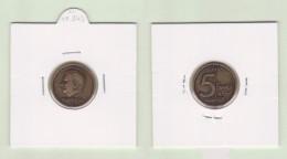 BELGICA  5 FRANCOS  1.998  KM#189  SC/UNC  Réplica   DL-11.843 - 03. 5 Francs