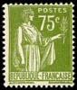 France Type Paix N°  284 A ** Le 75 Cts Olive De La 1 ére Série - 1932-39 Paix