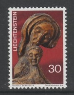 TIMBRE NEUF DU LIECHTENSTEIN - SCULPTURE SUR BOIS DE RUDOLF SCHAEDLER (NOËL 1970) N° Y&T 480 - Sculpture