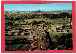 LE PUY ROCHER SAINT MICHEL D AIGUILHE ET CHATEAU DE POLIGNAC CARTE EN TRES BON ETAT - Le Puy En Velay